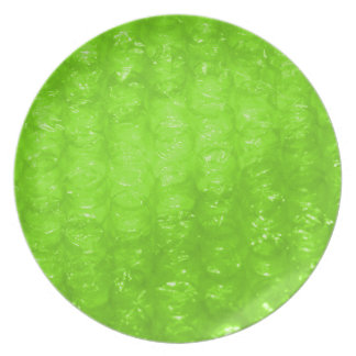 Lime Green Bubble Wrap Effect Dinner Plate