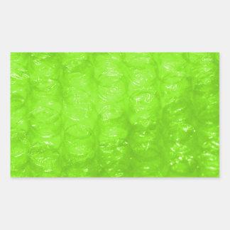 Lime Green Bubble Wrap Effect Rectangular Sticker