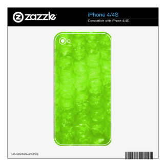 Lime Green Bubble Wrap Effect Decals For iPhone 4