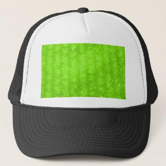 Lime Green Bubble Wrap Effect Trucker Hat
