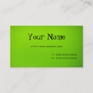 Lime green business cards zazzle lime green business card reheart Gallery