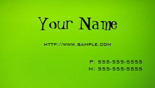 Lime green business cards templates zazzle lime green business card reheart Choice Image