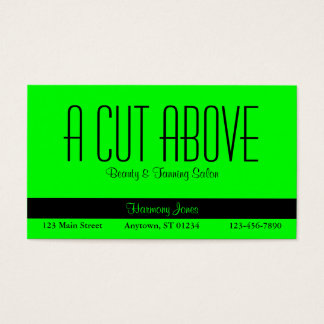 Lime Green Business Card
