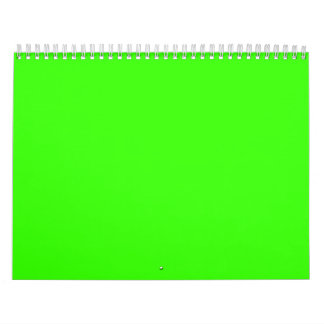 Lime Green Calendar