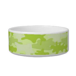Lime Green Camo Camoflauge Custom Pet Bowl