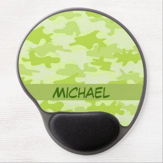 Lime Green Camo Camouflage Custom Gel Mouse Pad