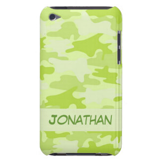 Lime Green Camo Camouflage Name Personalized iPod Touch Case