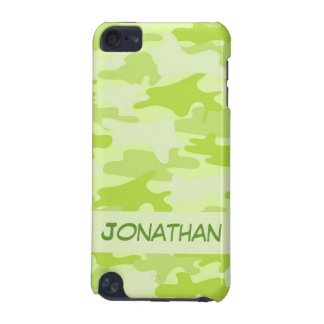 Lime Green Camo Camouflage Name Personalized iPod Touch 5G Cover