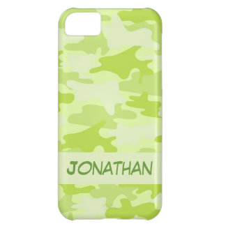 Lime Green Camo Camouflage Name Personalized iPhone 5C Case