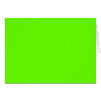 Lime Green Card