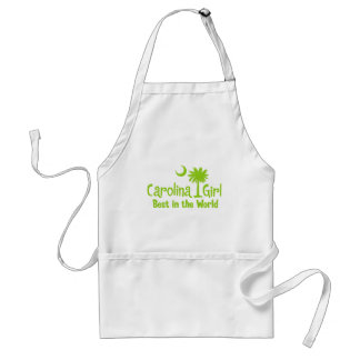 Lime Green Carolina Girl Best in the World Adult Apron