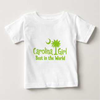 Lime Green Carolina Girl Best in the World Baby T-Shirt