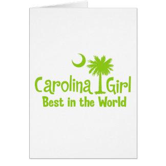 Lime Green Carolina Girl Best in the World Card