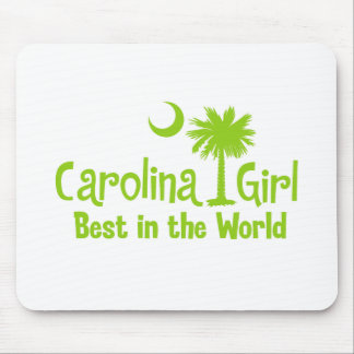 Lime Green Carolina Girl Best in the World Mouse Pad