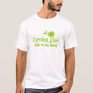Lime Green Carolina Girl Best in the World T-Shirt