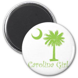 Lime Green Carolina Girl Fridge Magnets