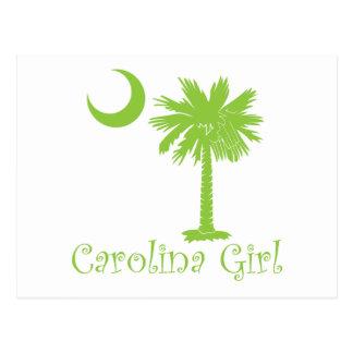 Lime Green Carolina Girl Postcard
