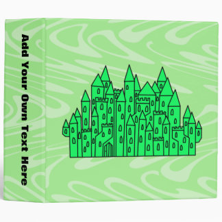 Lime Green Castle. Binder