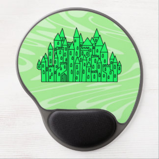 Lime Green Castle Gel Mouse Mats
