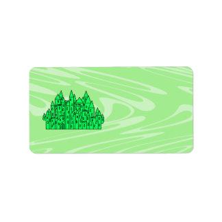 Lime Green Castle. Label
