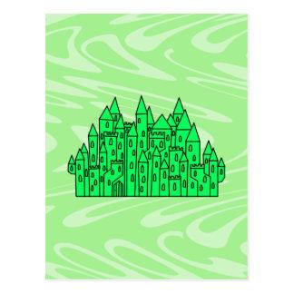 Lime Green Castle. Postcard