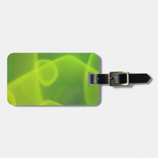 Lime Green Cells Travel Bag Tags
