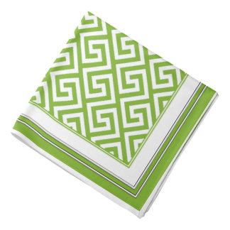 Lime Green Celtic Key Pattern Bandana