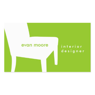 Lime Green Chair Business Card