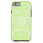 Lime Green Chartreuse Floral Damask iPhone 6 Case