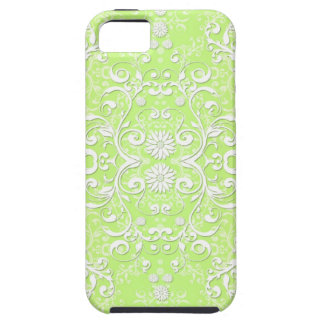 Lime Green Chartreuse Floral Damask iPhone SE/5/5s Case