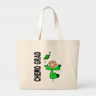 Lime Green CHEMO GRAD 1 Non-Hodgkins Lymphoma Tote Bags