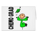 Lime Green CHEMO GRAD 1 (Non-Hodgkins Lymphoma) Greeting Card