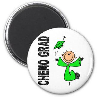 Lime Green CHEMO GRAD 1 Non-Hodgkins Lymphoma Fridge Magnet