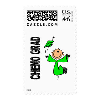 Lime Green CHEMO GRAD 1 Non-Hodgkins Lymphoma Stamp