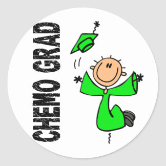 Lime Green CHEMO GRAD 1 Non-Hodgkins Lymphoma Sticker