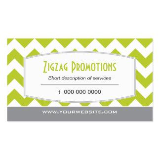 Lime Green Chevron Business Card