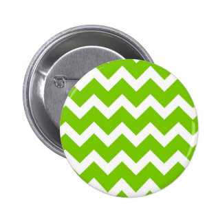 Lime Green Chevron Button