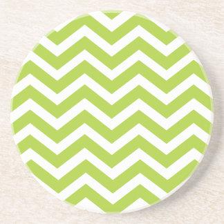 Lime Green Chevron Coaster
