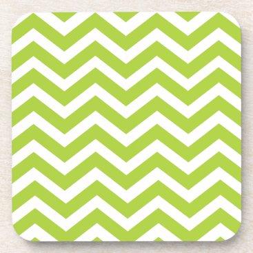 Beach Themed Lime Green Chevron Coasters