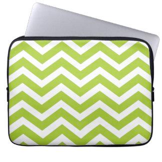 Lime Green Chevron laptop case
