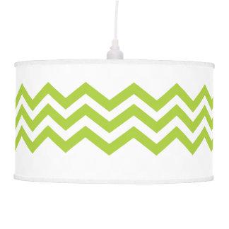 Lime Green Chevron Light Shade Pendant Lamps