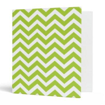 Beach Themed Lime Green Chevron notebook Binder
