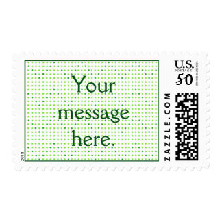 Lime, Green Chevron Pattern Dots Your Words Stamp