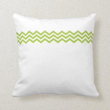 Beach Themed Lime Green Chevron Pillow