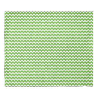 Lime Green Chevron Stripes Duvet Cover at Zazzle