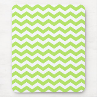 Lime Green Chevron Stripes Mousepads