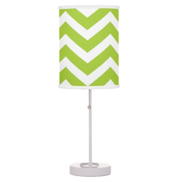 Beach Themed Lime Green Chevron Table Lamp