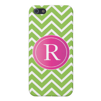 Lime Green Chevrons Cover For iPhone SE/5/5s