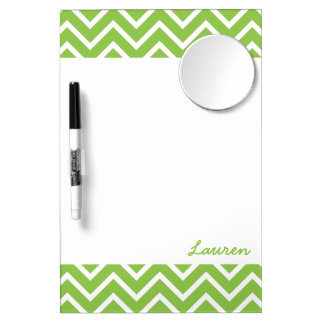 Lime Green Chevrons Dry Erase Whiteboards