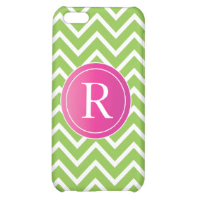 Lime Green Chevrons iPhone 5C Covers